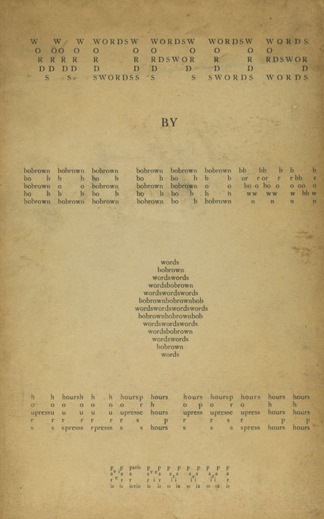 Cover of Bob Brown's Words (1931)