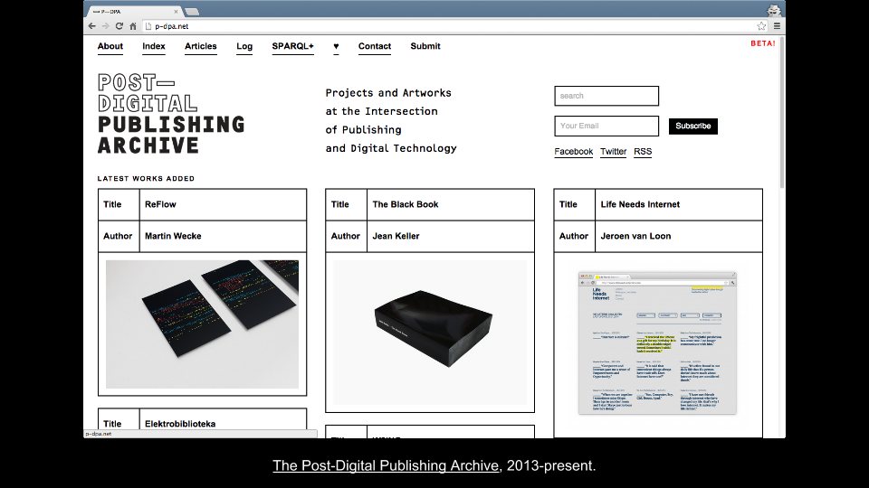 The Post-Digital Publishing Archive-  An Inventory of Speculative Strategies — Coventry University — June 11th 2014 (8)