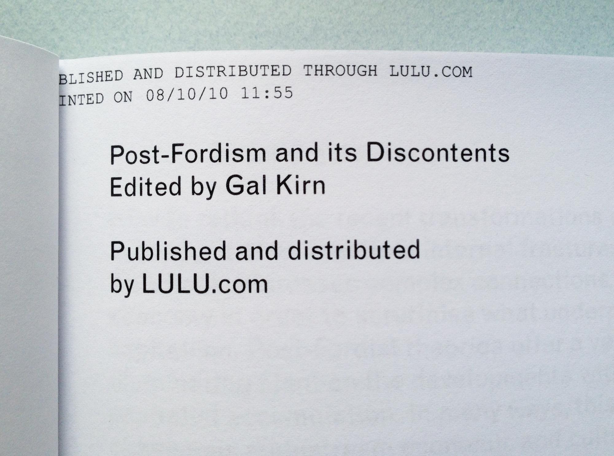 fordism vs post fordism