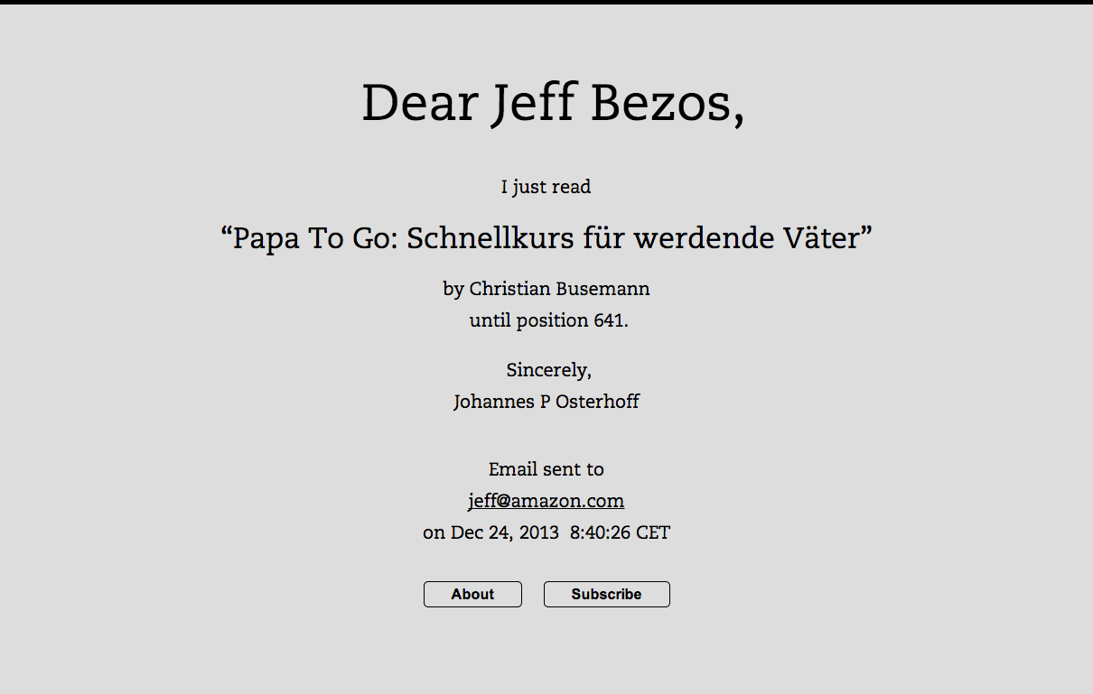 Dear Jeff Bezos P Dpa