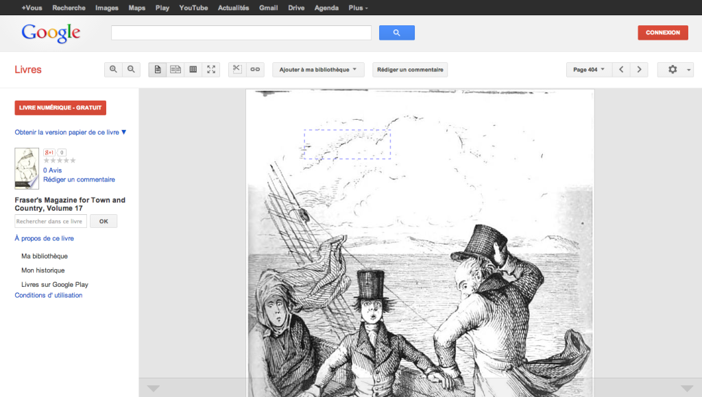 Screenshot of Google Books page showing the detail included in Books Scapes