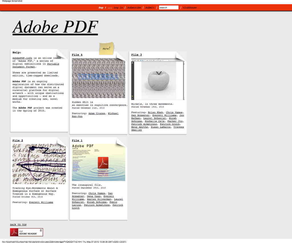 Adobe PDF's website.
