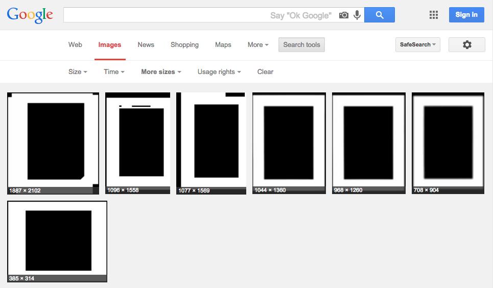 Concealed PDFs on Google Images.