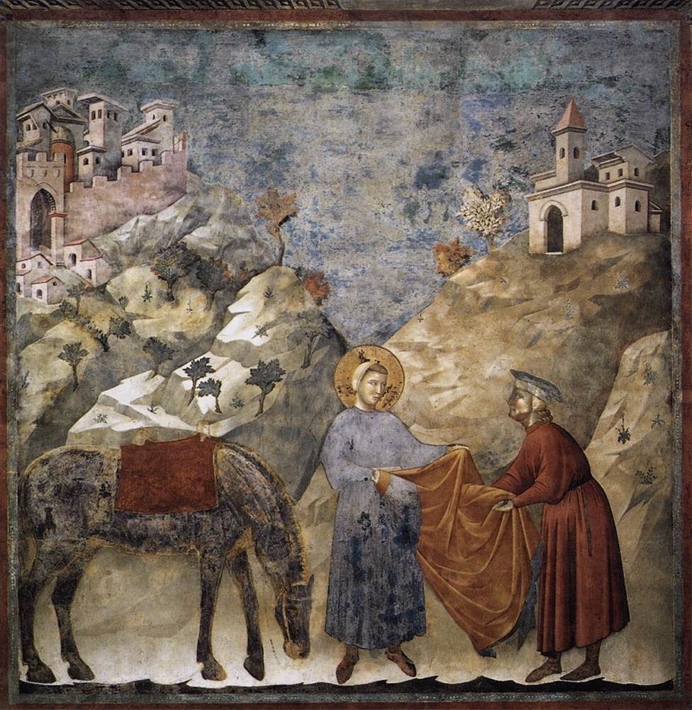 Fig. 1: St. Francis Giving his Mantle to a Poor Man, Giotto, 1297–1299. Source: http://www.wikiart.org/en/giotto/st-francis-giving-his-mantle-to-a-poor-man–1299