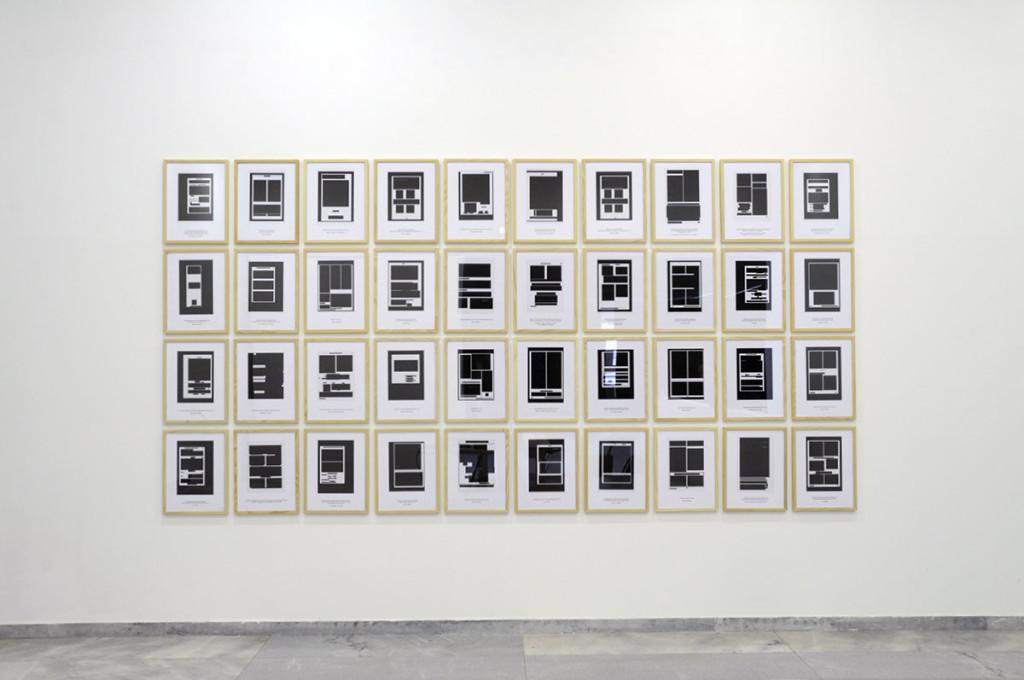 "Exhibition view, ""The Act & the Tracer"", Württembergischer Kunstverein Stuttgart, Germany."
