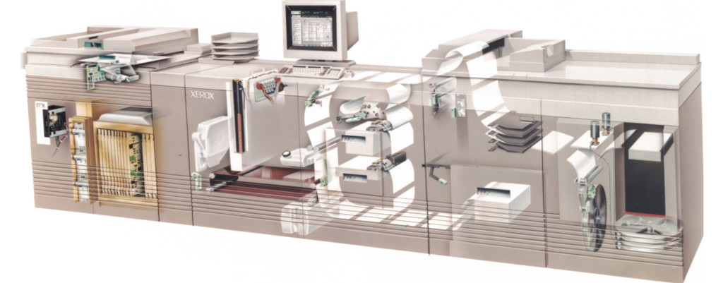 Xerox DocuTech Production Publisher 135, c1990, the machine that gave rise to the POD industry.