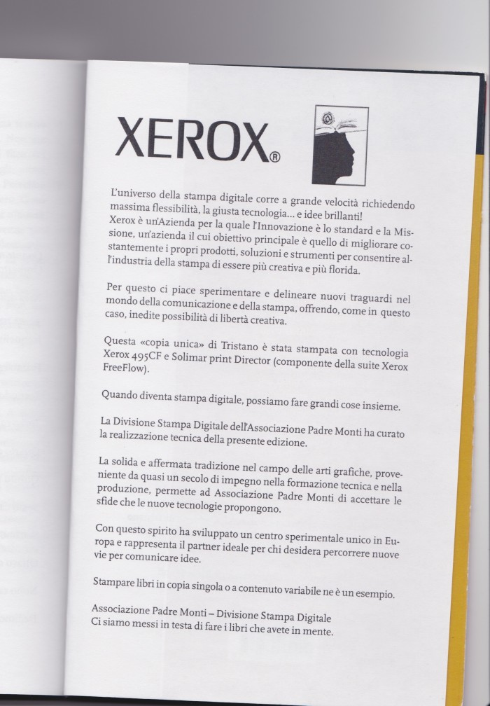 Xerox promotional page in Tristano BK2740.